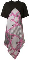 MSGM panelled T-shirt dress
