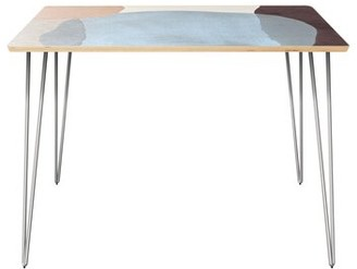 George Oliver Pepin Dining Table Table Top Color: Natural, Table Base Color: Chrome