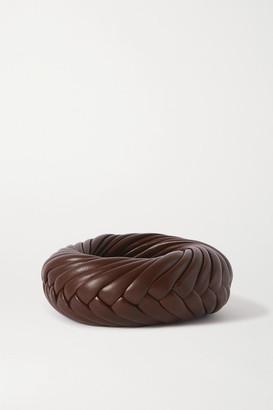 Bottega Veneta Woven Leather Cuff - Brown