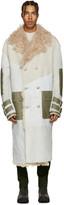 Diesel Off-White Oversized Shearling Jacket