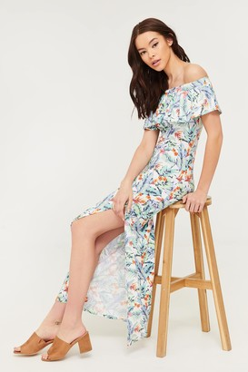 Ardene Floral Off-the-Shoulder Maxi Dress