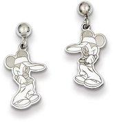 Disney Sterling Silver Mickey Dangle Post Earrings