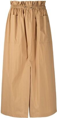 REMAIN Paperbag Waist Midi Skirt