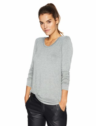Daily Ritual Women's Jersey Long-Sleeve Scoop-Neck Swing Tunic