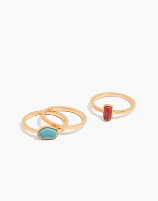 Madewell Westward Stacking Ring Set