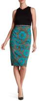 Maggy London Printed Textured Woodcut Block Dress