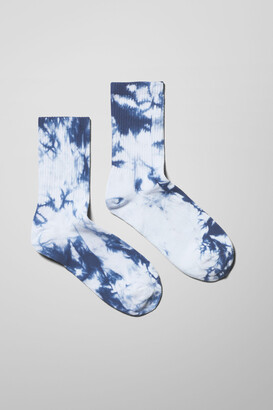 Weekday Eleven Tie Dye Socks - Green