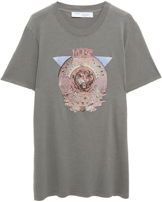 IRO Ryers Printed Cotton-jersey T-shirt
