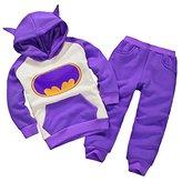 Astage Little Kids' Long Sleeve Cartoon Batman Hoodies Sport Clothing