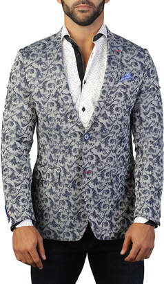 Maceoo Men's Descartes Graphic Two-Button Jacket