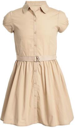 Nautica Little Girls Cotton Poplin Shirtdress
