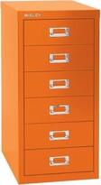 Bisley 6-Drawer Vertical Filing Cabinet Color: Orange