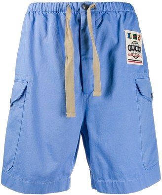 Gucci Worldwide drill shorts