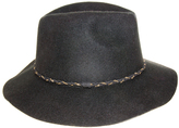 Nine West Black Wool Felt Rancher Hat