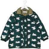 Stella McCartney swan print padded jacket