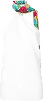 Emilio Pucci Scarf-Detail Halterneck Top