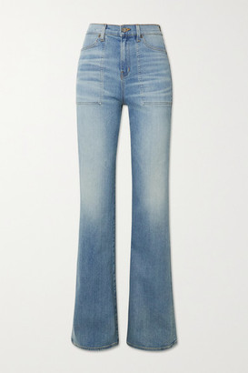 Veronica Beard Crosbie High-rise Flared Jeans - Mid denim