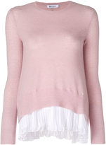 Dondup pleated detail jumper - women - Polyester/Cashmere/Merino - S