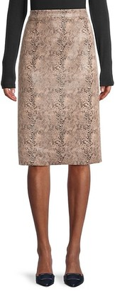 Brave + True Snakeskin-Print Knee-Length Skirt