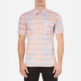 Vivienne Westwood Man Printed Street Shirt Blue Diamonds