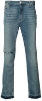 Ovadia & Sons distressed straight-leg jeans - men - Cotton - 30
