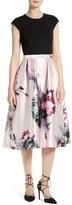 Ted Baker Women's Carsyn Ethereal Posie Mixed Media Midi Dress