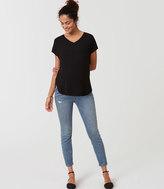 LOFT Petite Maternity Skinny Ankle Jeans in Indigo Wash