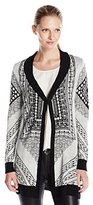 Colourworks Colour Works Women's Long Sleeve Cardigan with Jacquard Pattern