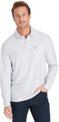 Vineyard Vines Reverse Feeder Stripe Edgartown Long-Sleeve Polo