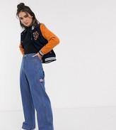 Fila oversized varsity jacket with embroidered back patch