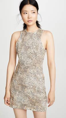 Alexander Wang Denim x Micro Cheetah Sheath Dress