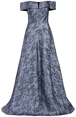 Rene Ruiz Collection Off-The-Shoulder A-Line Gown