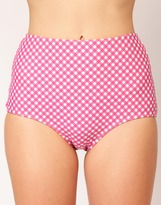 ASOS Gingham High Waisted Bikini Brief