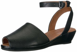 Gentle Souls Women's Lily Ankle Wrap 2 Low Wedge Sandal