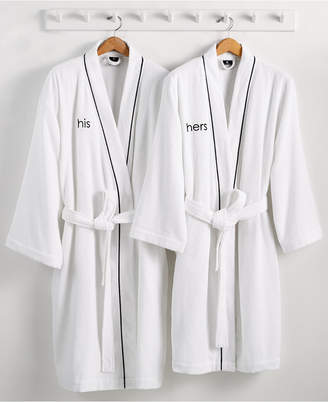 Hotel Collection His or Hers Robe, 100% Turkish Cotton, Bedding