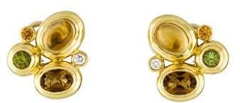 David Yurman 18K Multistone Mosaic Earrings