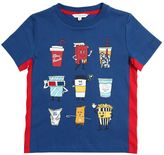Little Marc Jacobs Movie Food Printed Cotton Jersey T-Shirt