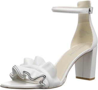 Kenneth Cole New York Women's Langley Ankle Sandal with Ruffle Detail on Front Strap Heeled