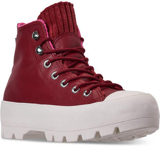 Converse Women Chuck Taylor All Star Lugged Winter Retrograde High Top Sneaker Boot Casual Sneakers from Finish Line