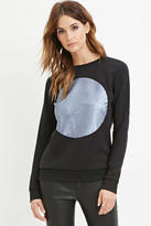 Forever 21 FOREVER 21+ Contemporary Metallic Circle Graphic Sweatshirt