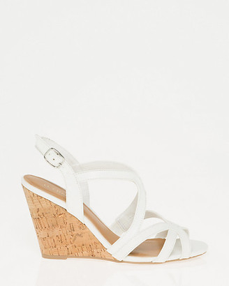 Le Château Faux Leather Open Toe Strappy Sandal