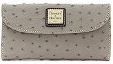 Dooney & Bourke Ostrich Collection Continental Clutch Wallet