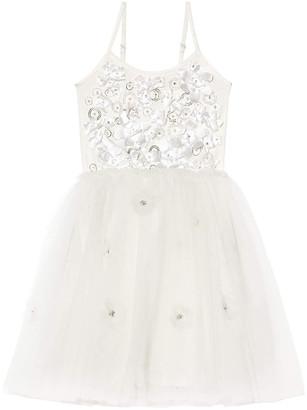 Tutu Du Monde Girl's Shimmering Petals Tulle Dress, Size 2-11