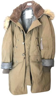 R 13 Green Cotton Coat for Women