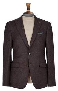 Dorothy Perkins Womens **Burton Burgundy Textured Blazer, Burgundy