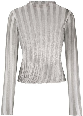 Alyx Ribbed Sheer Top