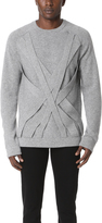 Helmut Lang Cable Front Cashmere Sweater