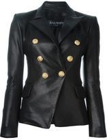 Balmain fitted blazer - women - Cotton/Lamb Skin/Viscose - 36