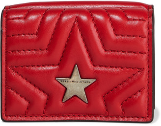 Stella McCartney Stella Star Quilted Faux Leather Wallet