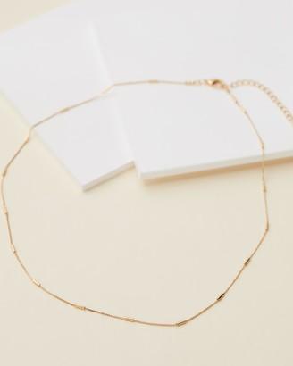 Orelia London Fine Link Bar Chain Necklace